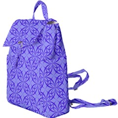 Decor Pattern Blue Curved Line Buckle Everyday Backpack