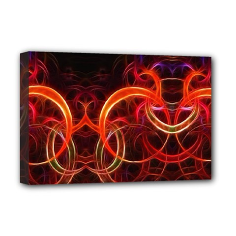 Background Fractal Abstract Deluxe Canvas 18  X 12  (stretched) by Pakrebo