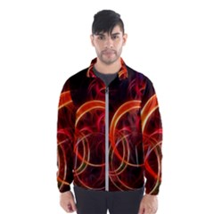 Background Fractal Abstract Windbreaker (men)