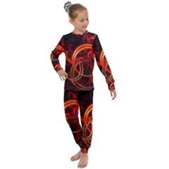 Background Fractal Abstract Kids  Long Sleeve Set