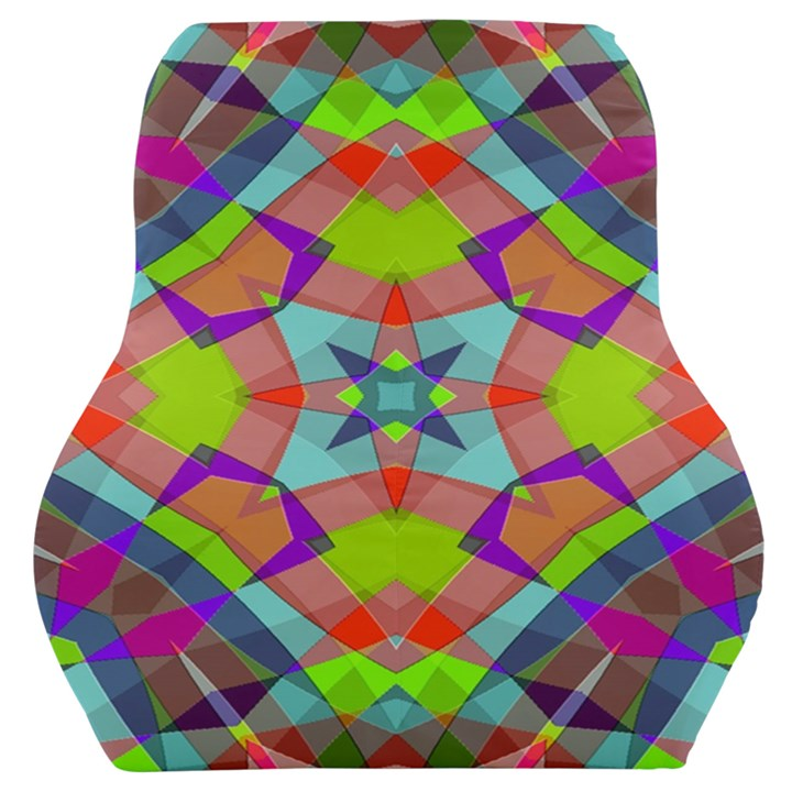 Farbenpracht Kaleidoscope Pattern Car Seat Back Cushion