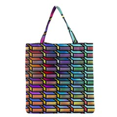 Pattern Background Creativity Grocery Tote Bag by Pakrebo