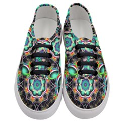 Fractal Chaos Symmetry Psychedelic Women s Classic Low Top Sneakers