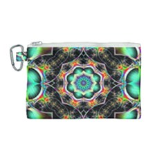 Fractal Chaos Symmetry Psychedelic Canvas Cosmetic Bag (medium)