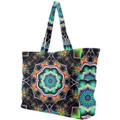 Fractal Chaos Symmetry Psychedelic Simple Shoulder Bag by Pakrebo