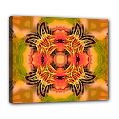 Fractals Graphic Fantasy Colorful Deluxe Canvas 24  X 20  (stretched) by Pakrebo