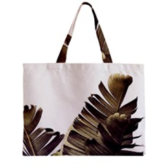 Vintage Banana Leaves Zipper Mini Tote Bag by goljakoff