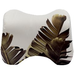 Vintage Banana Leaves Head Support Cushion by goljakoff