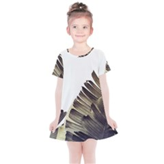 Vintage Banana Leaves Kids  Simple Cotton Dress by goljakoff