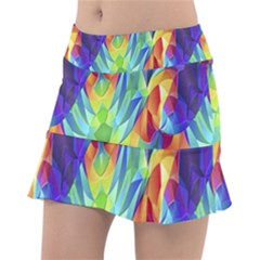 Modern Art Fractal Background Tennis Skirt