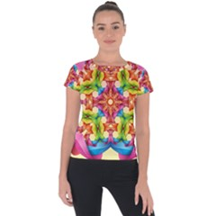 Pattern Tile Background Image Deco Short Sleeve Sports Top