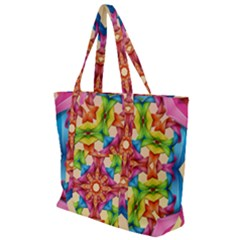 Pattern Tile Background Image Deco Zip Up Canvas Bag