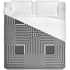Construction Background Geometric Duvet Cover (king Size) by Pakrebo