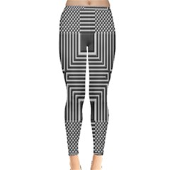 Construction Background Geometric Inside Out Leggings