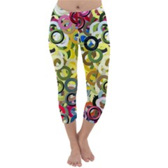 Pattern Background Abstract Color Capri Winter Leggings  by Pakrebo
