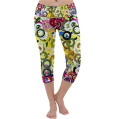 Pattern Background Abstract Color Capri Yoga Leggings