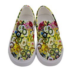 Pattern Background Abstract Color Women s Canvas Slip Ons