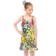 Pattern Background Abstract Color Kids  Overall Dress