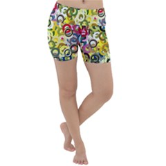Pattern Background Abstract Color Lightweight Velour Yoga Shorts