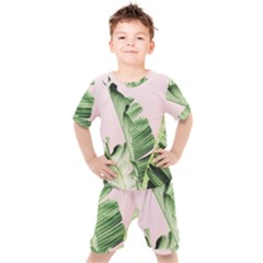 Banana Leaf Kids  Tee And Shorts Set by goljakoff