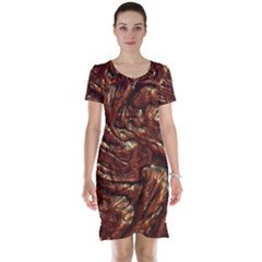 Background Structure Surface Short Sleeve Nightdress