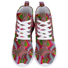 Fractal Art Pictures Digital Art Women s Lightweight High Top Sneakers
