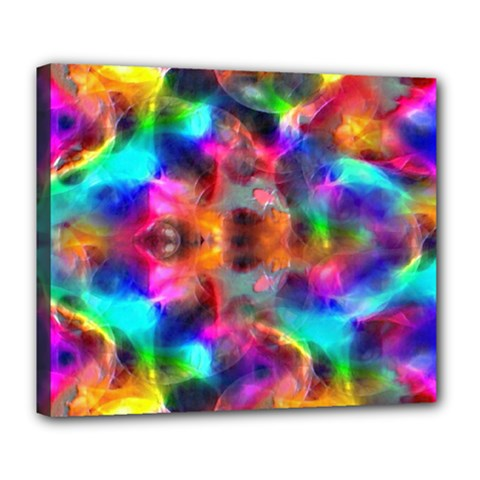 Farbenpracht Kaleidoscope Deluxe Canvas 24  X 20  (stretched) by Pakrebo