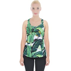 Tropical Banana Leaves Piece Up Tank Top by goljakoff
