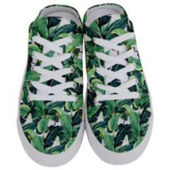 Tropical Banana Leaves Half Slippers by goljakoff