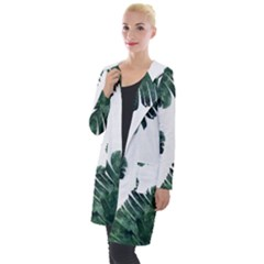 Tropical Leaves Hooded Pocket Cardigan by goljakoff
