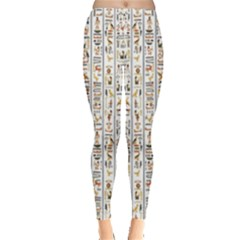 Egyptian Hieroglyphs Leggings  by ArtworkByPatrick