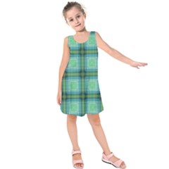 Background Pattern Structure Kids  Sleeveless Dress