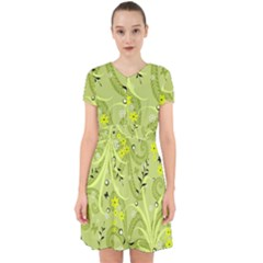 Seamless Pattern Green Garden Adorable In Chiffon Dress by Pakrebo