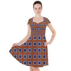 Tile Background Image Pattern Cap Sleeve Midi Dress