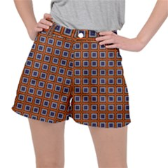 Tile Background Image Pattern Stretch Ripstop Shorts