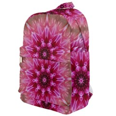 Flower Mandala Art Pink Abstract Classic Backpack