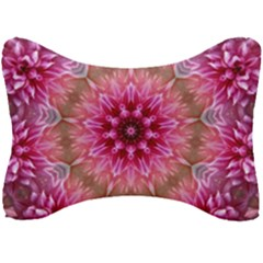 Flower Mandala Art Pink Abstract Seat Head Rest Cushion