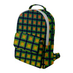 Tile Background Image Pattern Squares Flap Pocket Backpack (large)