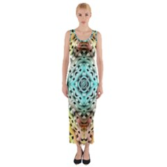 Farbenpracht Kaleidoscope Fitted Maxi Dress by Pakrebo