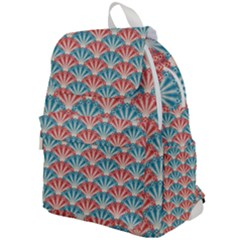 Seamless Patter Peacock Feathers Top Flap Backpack by Pakrebo