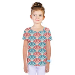 Seamless Patter Peacock Feathers Kids  One Piece Tee