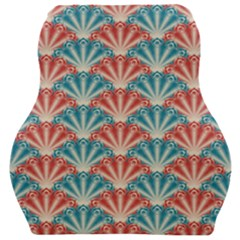 Seamless Patter Peacock Feathers Car Seat Velour Cushion