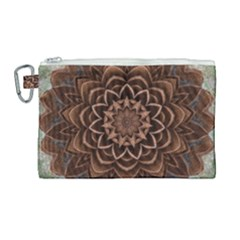 Abstract Art Texture Mandala Canvas Cosmetic Bag (large)