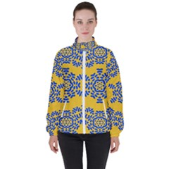 Background Image Decorative High Neck Windbreaker (women)