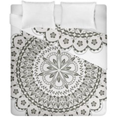 Vector Mandala Drawing Decoration Duvet Cover Double Side (california King Size)