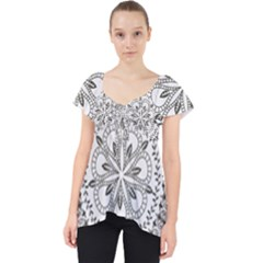 Vector Mandala Drawing Decoration Lace Front Dolly Top