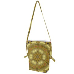 Pattern Background Gold Golden Folding Shoulder Bag