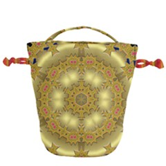 Pattern Background Gold Golden Drawstring Bucket Bag