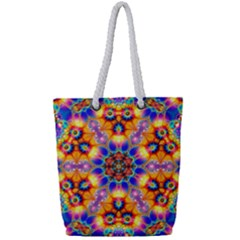 Image Fractal Background Image Full Print Rope Handle Tote (small)