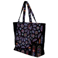 Rosette Cathedral Zip Up Canvas Bag